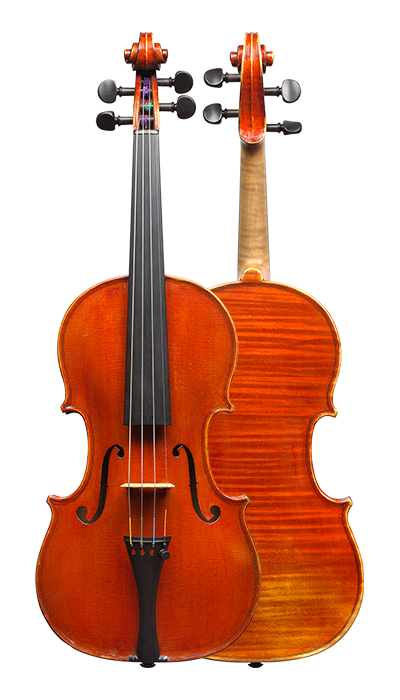 Front and back of a violin by Annibale Fagnola, Turin, 1923