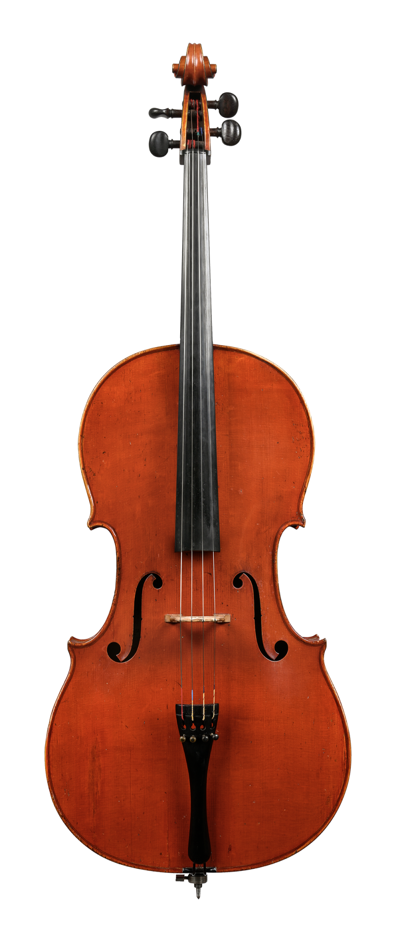 Front of a cello by Charles Adolphe Gand, Paris, 1847
