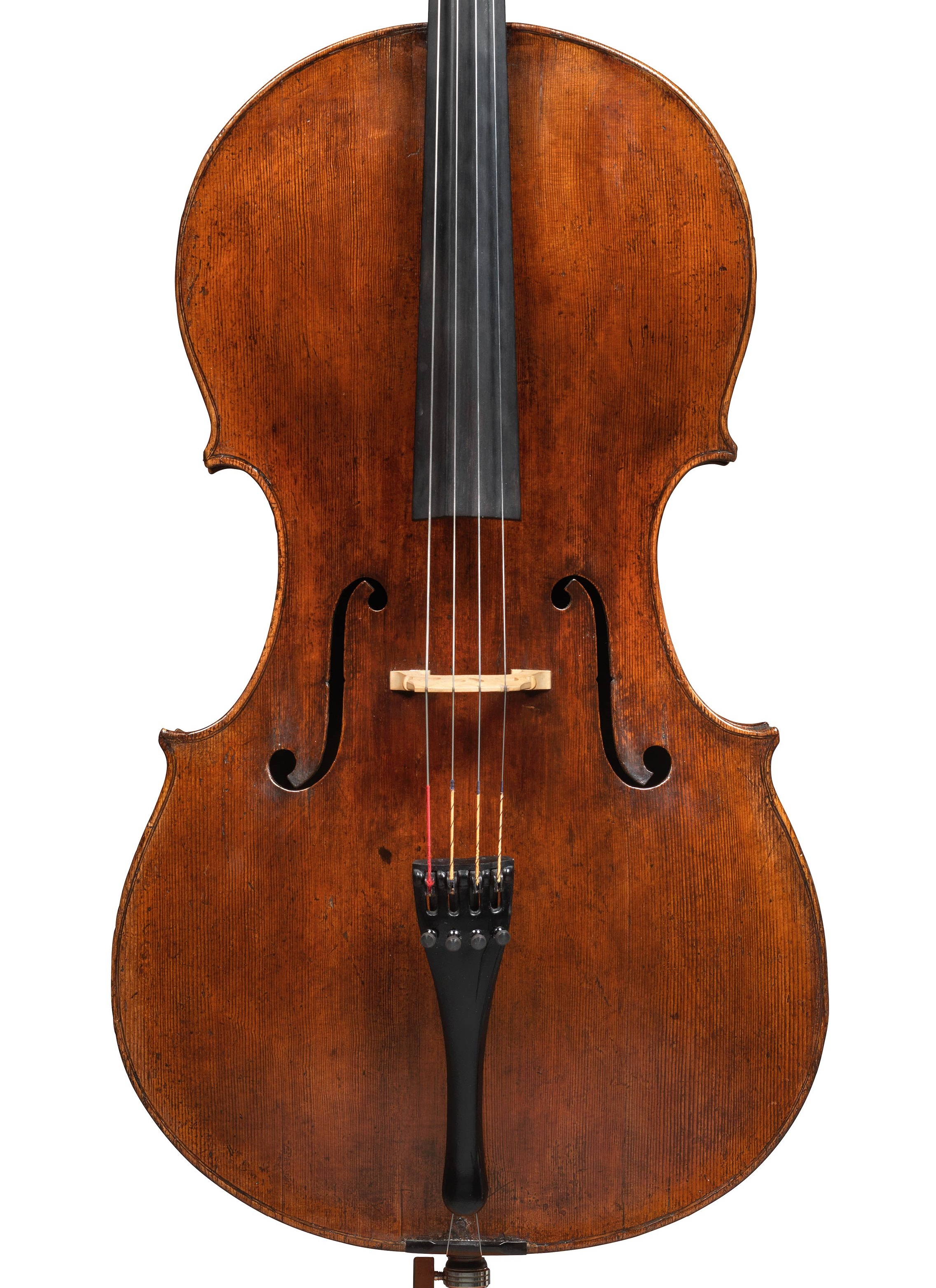 Front of a cello by Giuseppe filius Andreae, Cremona, 1713