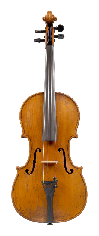 Front of a violin by Johannes Theodorus Cuypers, The Hague, 1807