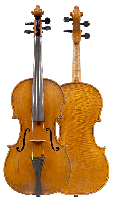 Front & back of a violin by Johannes Theodorus Cuypers, The Hague, 1807